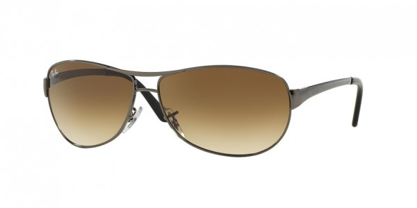 689d110c7cb Ray-Ban RB3342 WARRIOR Sunglasses. Available Colors  Ray-Ban RB3342 WARRIOR  Sunglasses. 004 51 GUNMETAL (GUNMETAL) Lens  crystal brown gradient