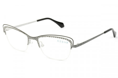 C-Zone A4134 Eyeglasses, BLACK/SILVER (90)