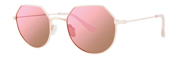 Kensie Make Believe Sunglasses, Rose Gold (Polarized)