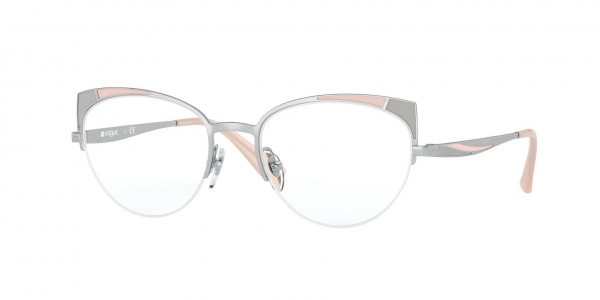 Vogue VO4153 Eyeglasses, 323 TOP MATTE PINK GREY/SILVER (SILVER)
