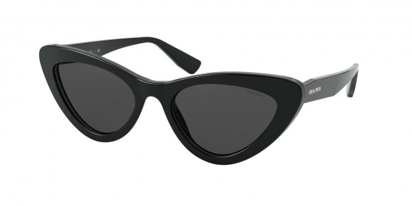 Miu Miu MU 01VS Sunglasses, 1AB5S0 BLACK (BLACK)