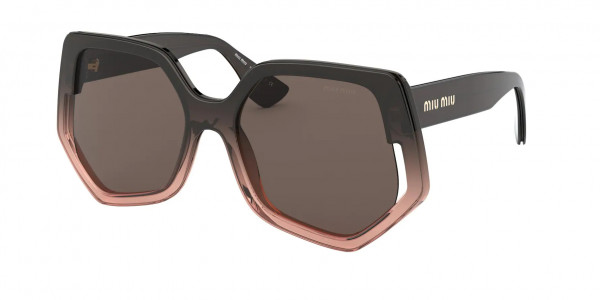Miu Miu MU 07VS SPECIAL PROJECT Sunglasses, 02D06B BROWN GRADIENT TRANSPARENT (BROWN)