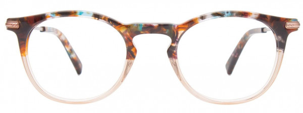 EasyClip EC536 Eyeglasses, 010 - Brown & Blue Marbled & Crystal Light Brown