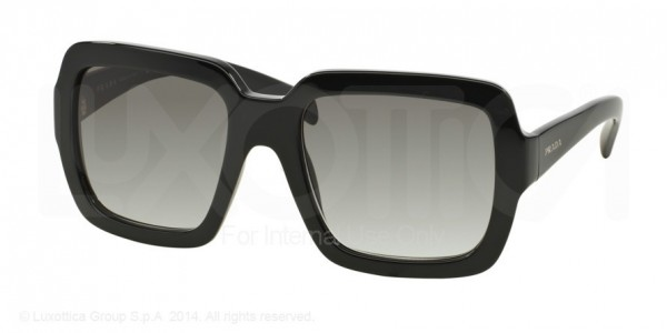 Prada PR 07RS Sunglasses, 1AB0A7 BLACK (BLACK)